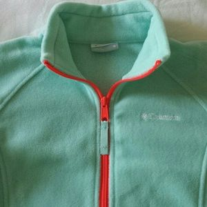 Columbia Fleece Jacket Mint Green
